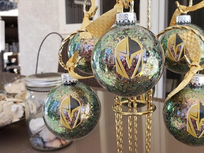 Vegas Golden Knights 60mm Glass Ball Ornaments