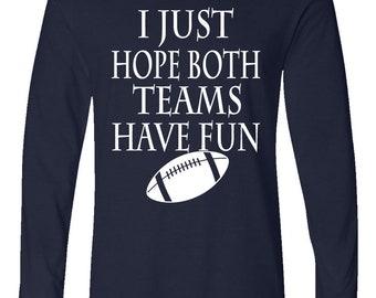Kids Tees Short-Sleeve Unisex T-Shirt Tony Rubino I Just Hope Both Teams Have Fun T Shirts for Men,Women