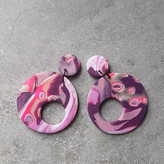 Vessel Dangles-Purple Mokume Gane