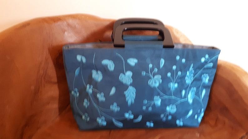Silk hand bag