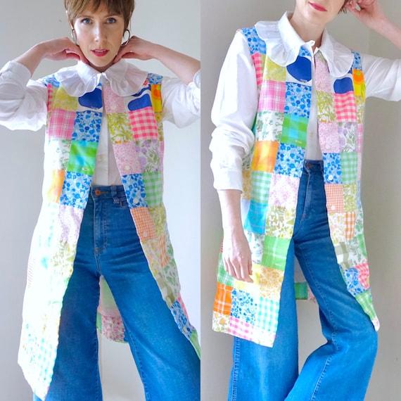 Patchwork vest medium quilt vintage 90s