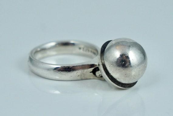 Georg Jensen Sterling 473 A Dangle Sphere Ring Reg