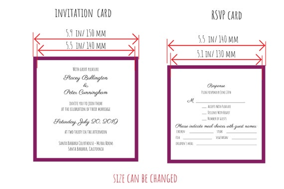 Set Classic Pocket Tri Fold Wedding Invitation Square Envelope 6x6 In Rsvp Card Vector Svg Dxf Eps Pdf Silhouette Paper Laser Cut Template