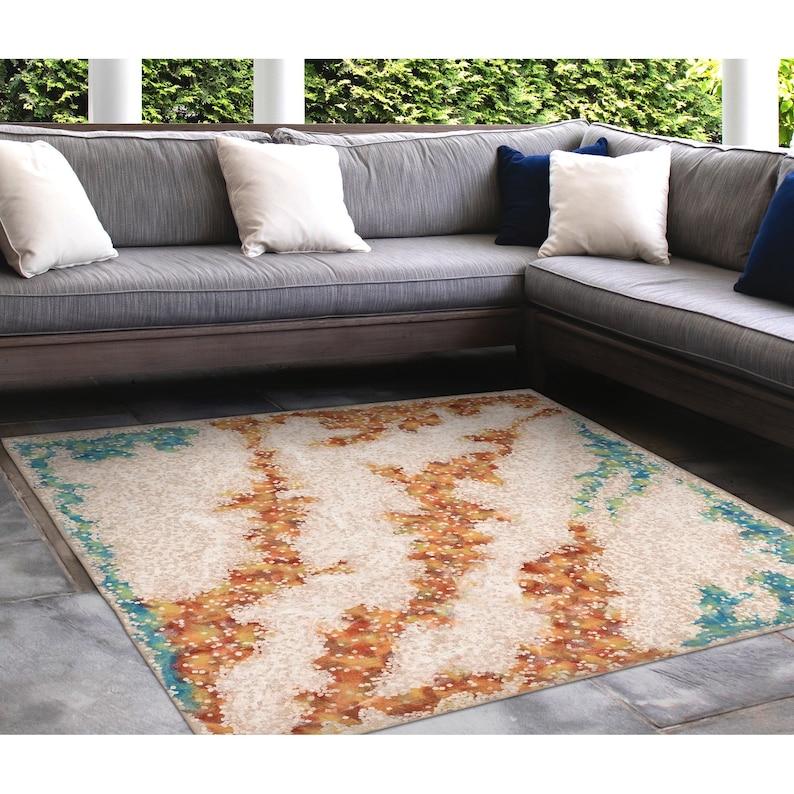 Liora Manne Visions IV Elements Indoor Outdoor Area Rug Sand