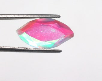 Rainbow Mystic Topaz Loose Gemstone Pair 28-30 Ct Oval Cabochon AGI Certified