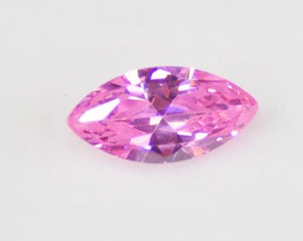 0.691 Carat Pink Sapphire Very Good Cut Marquise 7.07 x 4.04 mm Heated Loose Stone