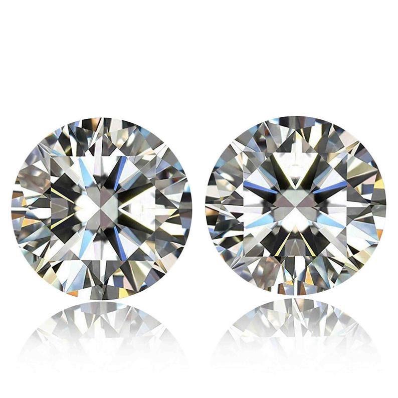 1.12 Ct 2 Pieces Lab Grown Loose cvd Diamond 4mm SI1 DEF Color Lot CVDHPHT