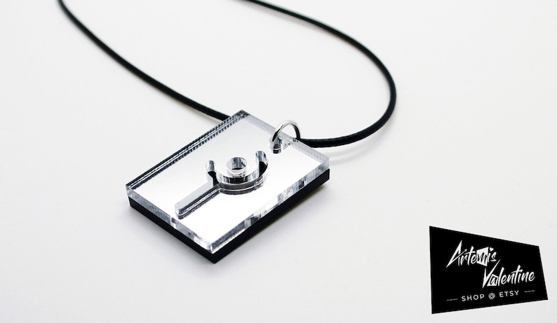 Lasered Final Fantasy XIV White Mage Necklace