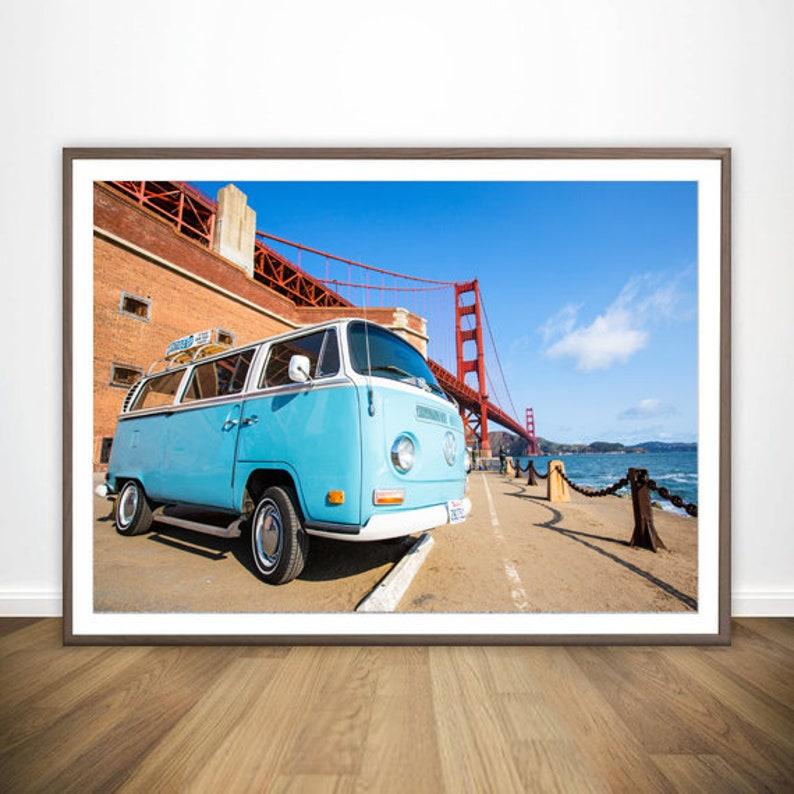 VW Bus Art Beach Decor Wanderlust Wall Art Surf Decor VW image 0