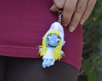 f66542dc6 Forest creature Keychain, collector doll toy gift, Cartoon family,  character key ring, birthday gift, woman girl gift, baptism party favors