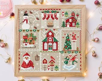 Pattern Cross Stitch Nativity Sampler NEW