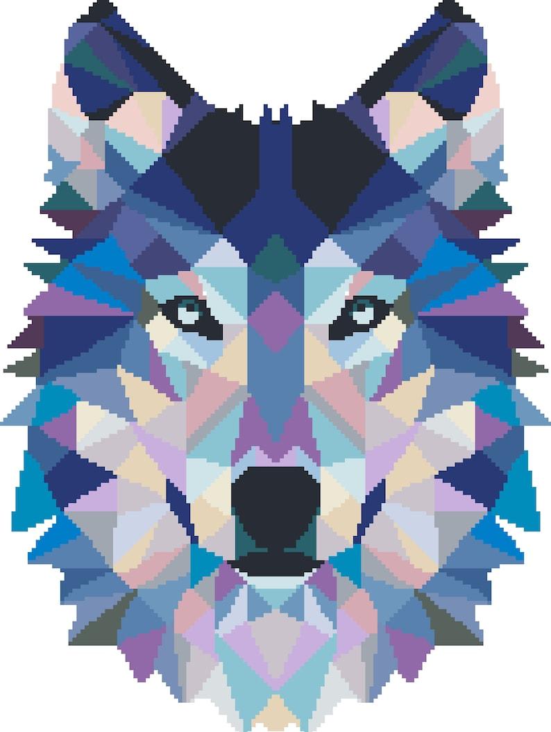 embroidery landscape counted cross stitch chart Wolf Cross Stitch Pattern Modern Cross Stitch Pattern PDF Animal nature cross stitch