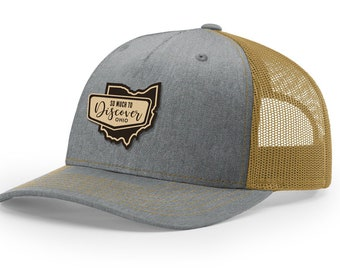 6dd2c9b206b Ohio Grey and Gold Classic Trucker Cap (Iconic Collection)
