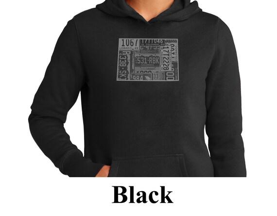 Mens Hooded Sweatshirt//Hoodie Vail Colorado Mountain Altitude
