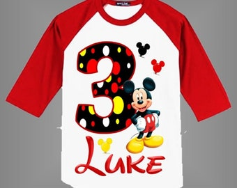 Mickey Mouse Birthday Shirt For Boys Or Girls