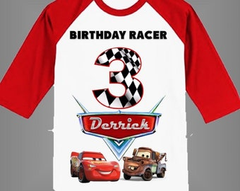 Disney Cars Birthday Shirt Customized Other Colors Available