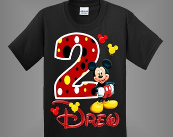 640962ac Mickey Mouse Birthday Shirt for boys or girls