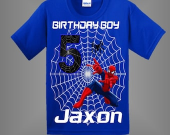 1505922ca Spiderman Birthday Shirt other shirt colors available