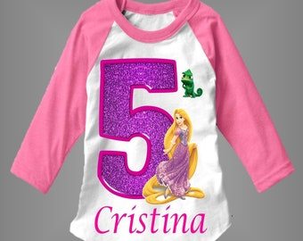 Rapunzel Birthday Shirt Personalized With Any Name And Age