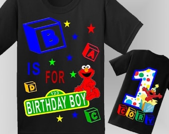 Elmo Birthday Shirt Front And Back Design