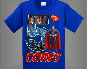9d89038e6 Superman Birthday Shirt
