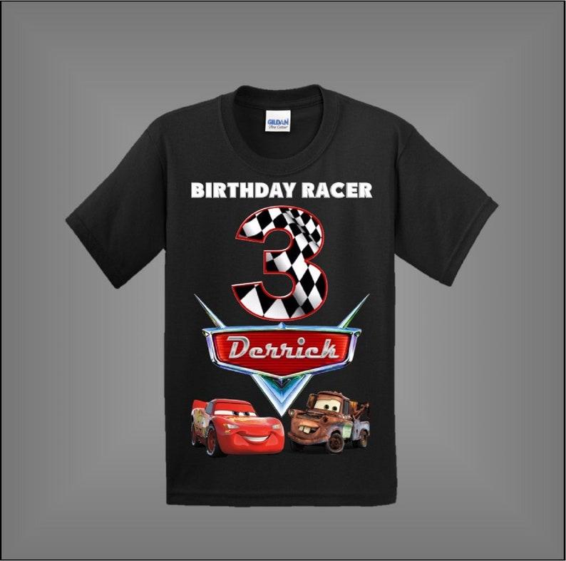 Disney Cars Birthday Shirt Customized Other Styles