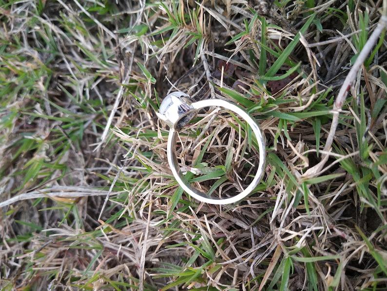 Rainbow Moonstone Ring Sterling Silver Ring Vintage Ring June Birthday Bridal Shower Gift Dainty Ring Luck Ring Journey Ring Mediation Ring