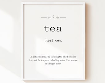 Vertical tea signs | Etsy