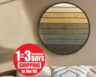 Sunset Wooden Wall Art- Geometric Wood Wall Hanging- Rustic Wood Wall Art- Rustic Wood Wall Art Modern- Wood Panel Decor- Wall Art