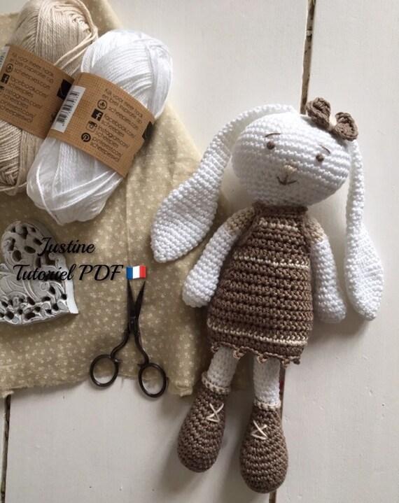 Tutoriel PDF en FRANCAIS/ANGLAIS lapin ballerine au crochet ... | 719x570