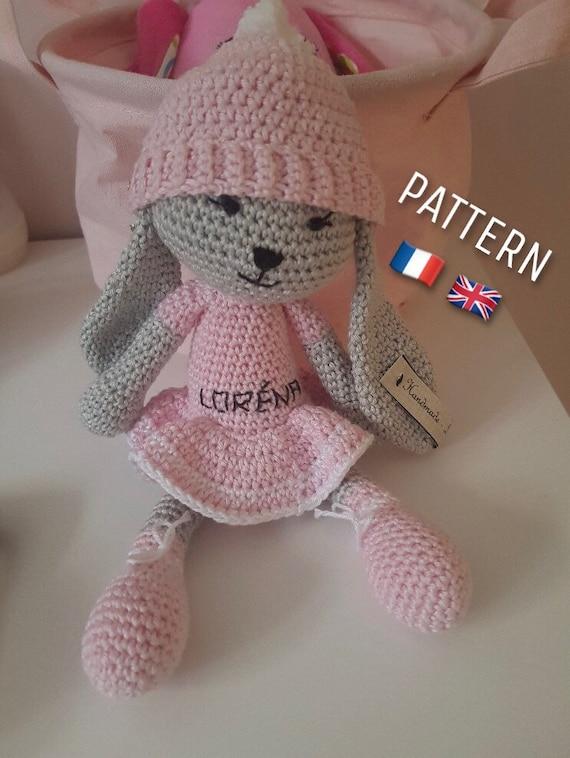 Tutoriel PDF en FRANCAIS/ANGLAIS lapin ballerine au crochet ... | 758x570