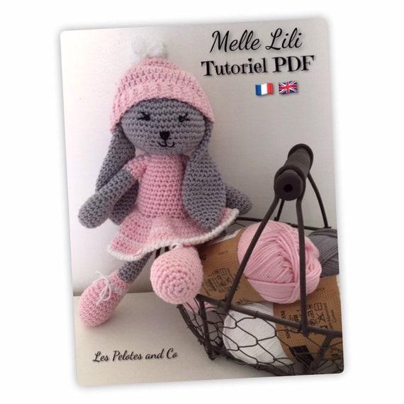Tutoriel en français, peluche lapine Nougatine, Crochet, Pattern ... | 570x570