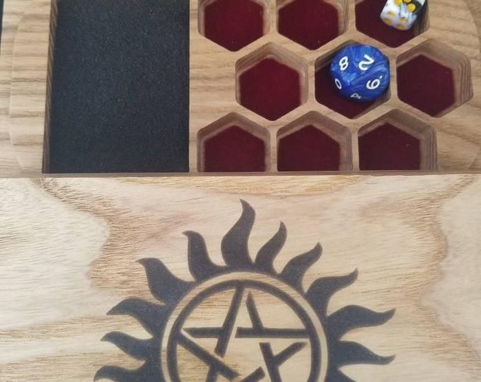 Supernatural dice box, ash