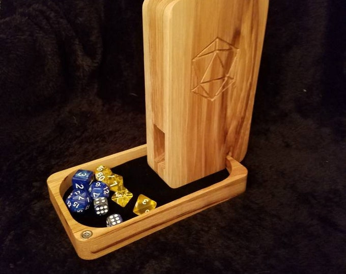 Dice Tower Box, hickory