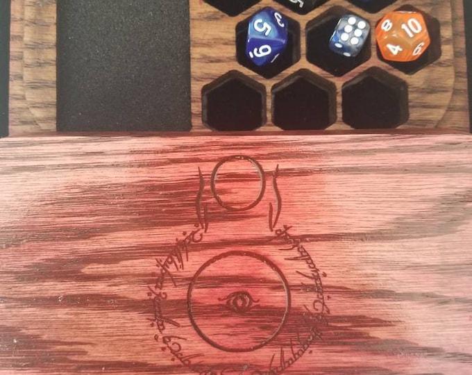 The Eye dice box, oak