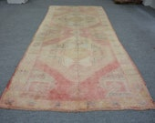 498 Turkish Rug,Anatolian Rug,Turkish Small Decorative,Rug 4x6,Vintage Rug,Pastel Rug,Oushak Rug,Area Rug,Rug 4 9 x11 4 feet 146 345 cm