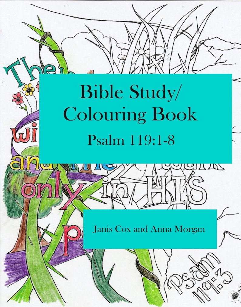 Bible Study/Colouring Book  Psalm 119:1-8 image 0