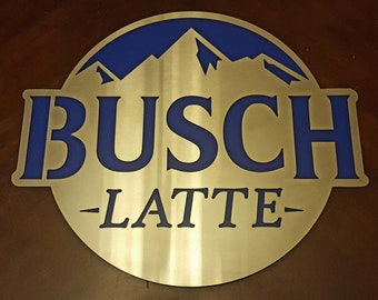Busch Beer Sign Etsy