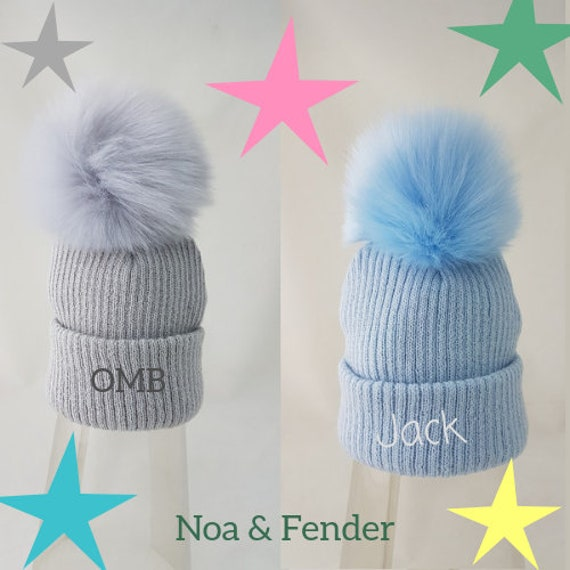 Personalised Pom Pom Wool Hat  df3c1718173