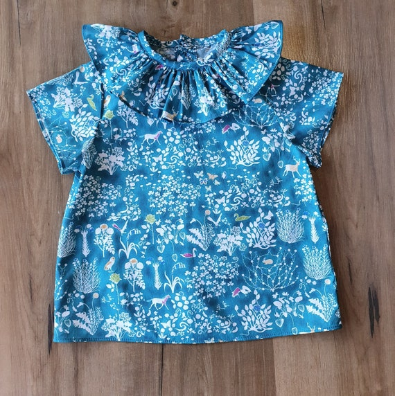 Liberty of London Ruffle Shirt, Short Sleeve, Made to Order