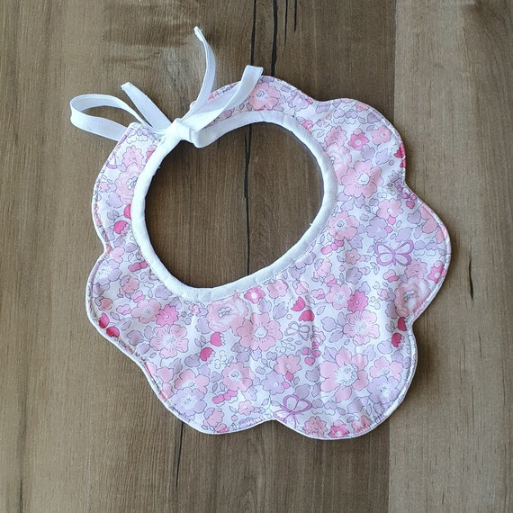 Liberty of London Baby Bib, With Contrast Linen Lining.
