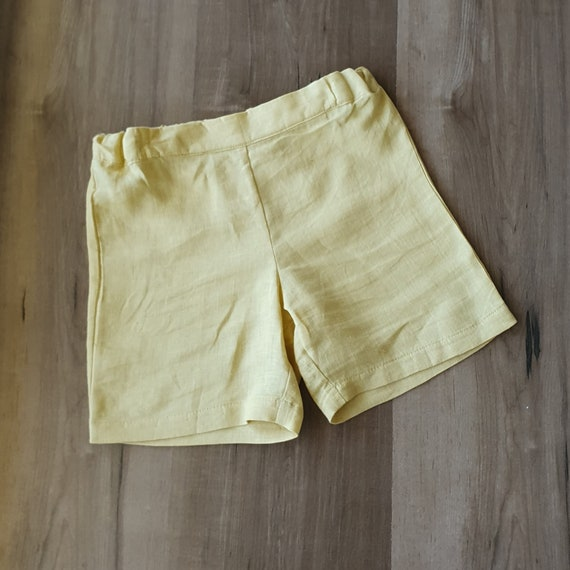 Linen Toddler Shorts, Size 3m-5yrs, Made to Order