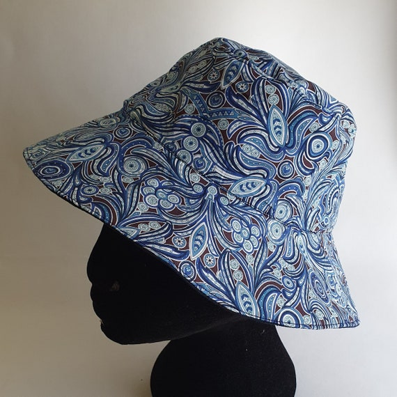 Liberty of London Bucket Hat, Reversible With Contrast Linen Lining.