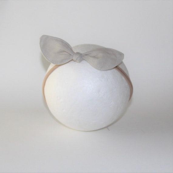 Soft Baby Headband, Linen Baby Headband, Bow Headband