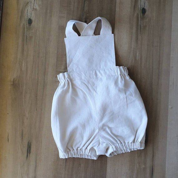 Linen Overall Romper, Toddler Romper, Wedding Romper