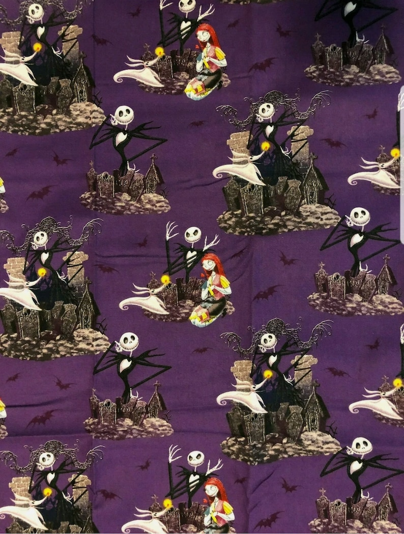 Nightmare Before Christmas Jack and Sally 4 pc Kitchen Towel Set