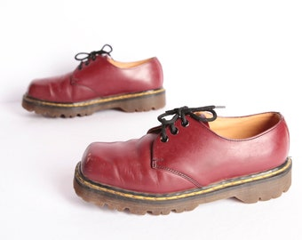 e97e926b3cbe vintage Dr. Martens red LEATHER vintage women s size 6 US PLATFORM doc  martens 90s grunge chunky dad shoes