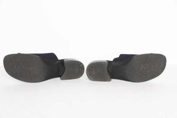 vintage 1990s BLACK open square platform mules wo… - image 5