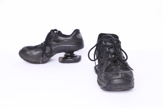 vintage BLACK Z-Coil platform SPRING shoes y2k ten