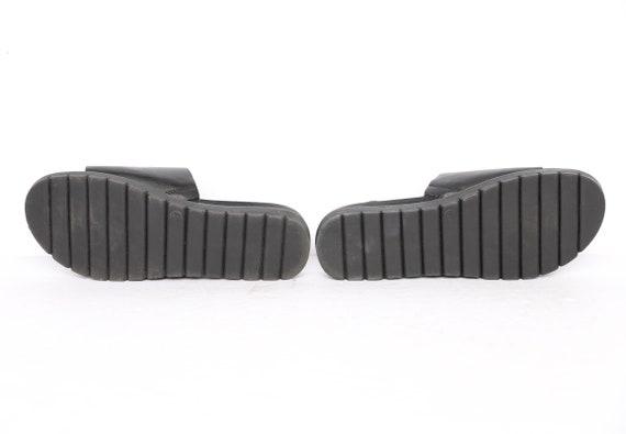 vintage 1990s BLACK open square BONGO brand mules… - image 5